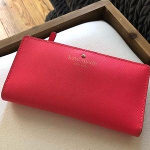 Hot pink Kate Spade bifold wallet
